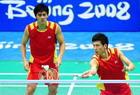 羽毛球男双中国组合获银牌