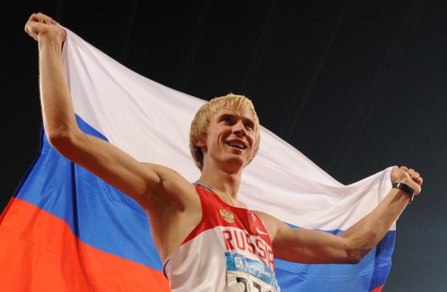图文-[奥运]田径男子跳高决赛 希尔诺夫夺得金牌