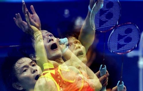 图文-奥运羽毛球精彩瞬间回顾 快速分解动作