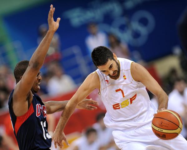 图文-美国男篮118-107西班牙 西班牙纳瓦罗贡献18分