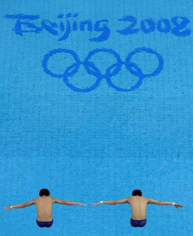 图文-男子双人10米台跳水 实现光荣的五环梦