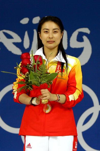 图文-跳水女子三米跳板决赛 郭晶晶笑看冠军