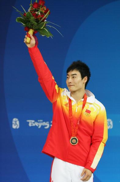 图文-男子单人三米跳板决赛 秦凯拿到比赛铜牌