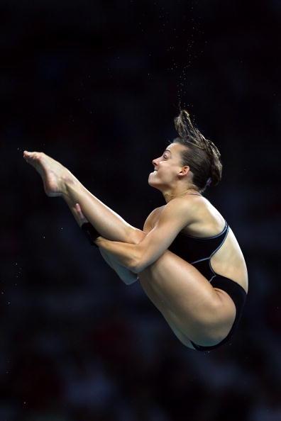 图文-奥运女子10米跳台决赛 意大利选手全力以赴