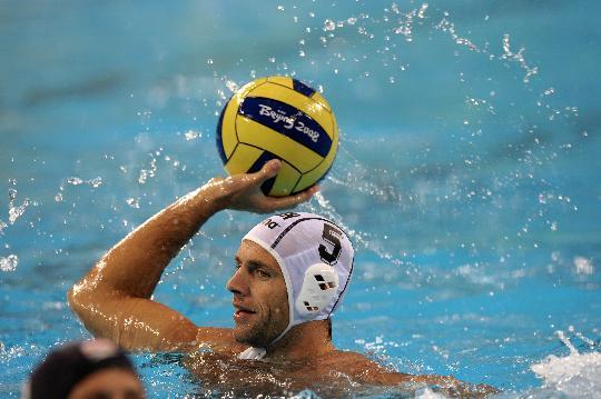 图文-奥运男子水球匈牙利队夺冠 传球找准人