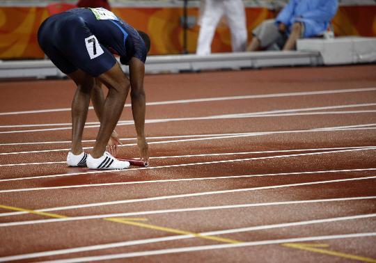 男子4x100预赛