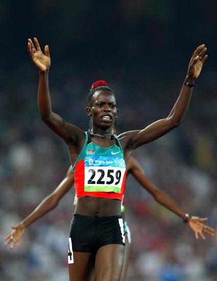 图文-奥运田径项目经典瞬间回顾 为冠军伴舞