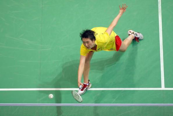 图文-羽球女单铜牌战卢兰告负 卢兰网前略显吃力