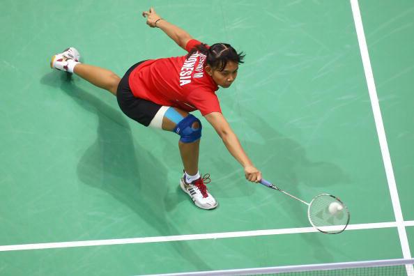 图文-羽球女单铜牌战卢兰告负 印尼选手网前小球