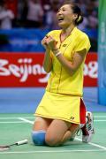 图文-奥运羽球女单张宁成功卫冕 笑与泪都是欢庆