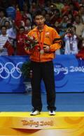 图文-奥运会羽毛球男单决赛 李宗伟拿到银牌