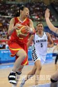 图文-[奥运会]中国女篮80-63新西兰 苗立杰轻松上篮