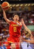 图文-[奥运会]中国女篮80-63新西兰 苗立杰轻松勾手