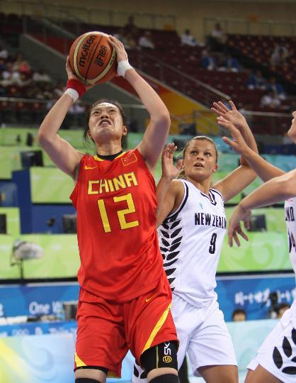 中国女篮80-63新西兰