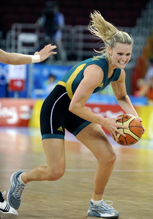 图文-[半决赛]中国女篮VS澳洲 斯克林带球金发飞扬