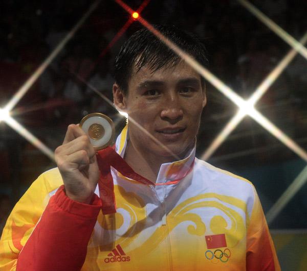 图文-[奥运]拳击男子81公斤级 张小平夺金星光闪耀