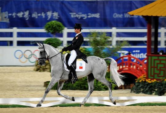 图文-中国选手亮相马术赛场 步态轻盈而欢快