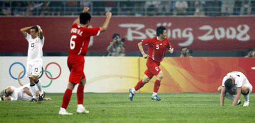 图文-中国国奥1-1新西兰国奥 开心与遗憾两重天