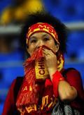 图文-中国0-2不敌比利时 失望球迷的一员