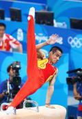 国家体育馆迎来中国体操男队