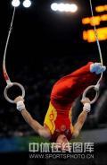 图文-陈一冰夺得男子吊环金牌 吊环的魅力