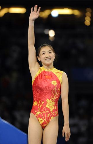 图文-体操女子蹦床决赛打响 何雯娜勇夺金牌