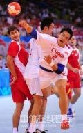 图文-[男手]中国22-33负克罗地亚 自己人撞在一起