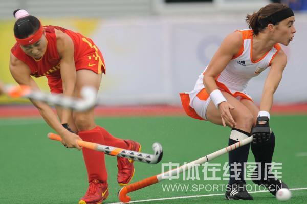 图文-女子曲棍球荷兰vs中国 中国姑娘不畏强敌