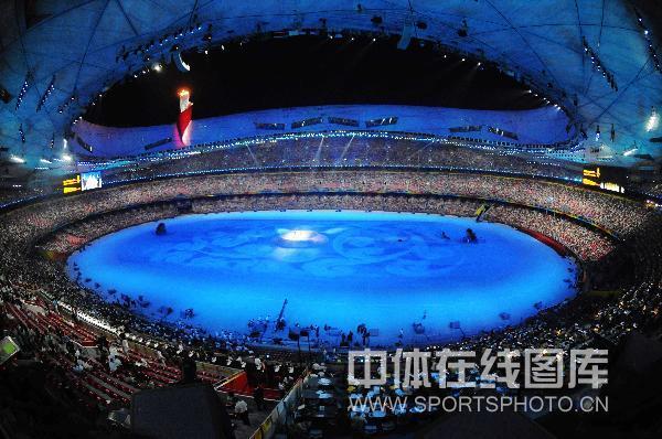 图文-北京奥运会闭幕式 闭幕式现场色彩华丽