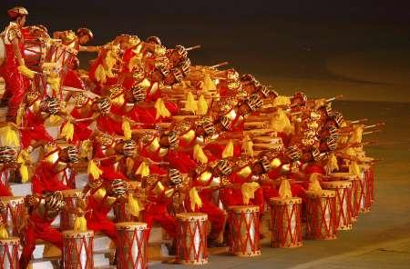 图文-北京奥运会闭幕式现场 中国的喜庆色彩