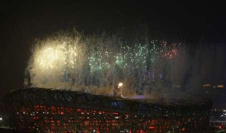 图文-北京奥运会闭幕式现场 闭幕焰火同样壮观