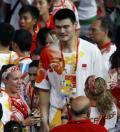图文-北京奥运会闭幕式现场 姚明最受关注