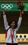 图文-女子25米运动手枪陈颖夺冠 蒙赫巴亚尔获铜