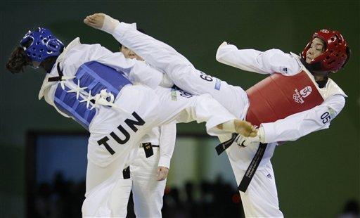 图文-跆拳道女子67公斤以上级 埃斯皮诺萨战胜对手