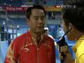 教练赛后接受采访
