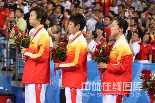 图文-[奥运会]乒球女团决赛 最庄严的时刻