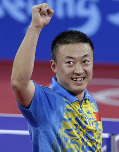 图文-乒乓球男子1/4决赛 马琳如愿以偿