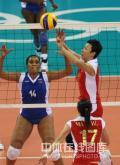 图文-中国女排3-0委内瑞拉 冯坤扛二传大旗