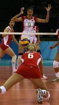 图文-中国女排3-1逆转欧洲劲旅 蕊蕊身高马大