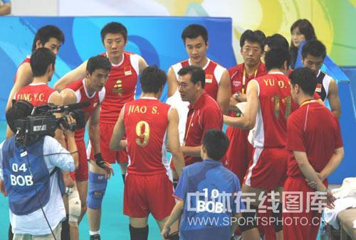 男排1/4决赛中国0-3巴西