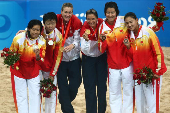 2008年北京奥运会中国女子沙排获银铜