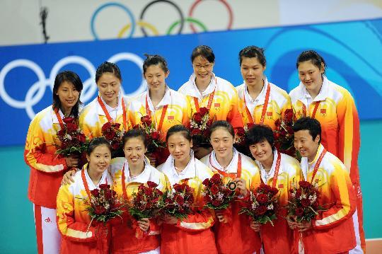2008年北京奥运会中国女排获季军