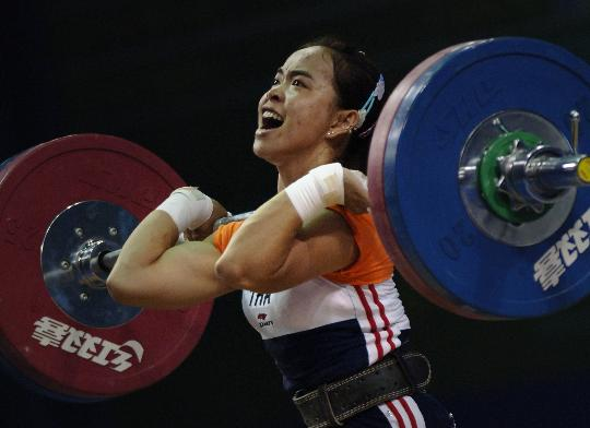 图文-奥运举重首金形势分析 泰国选手在07世锦赛