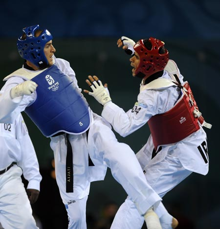 Hadi Saei of Iran wins men's 80kg taekwondo gold