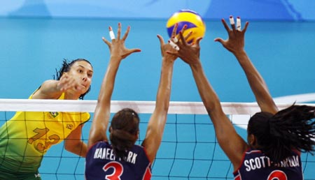 Brazil wins Olympic women's volleyball gold