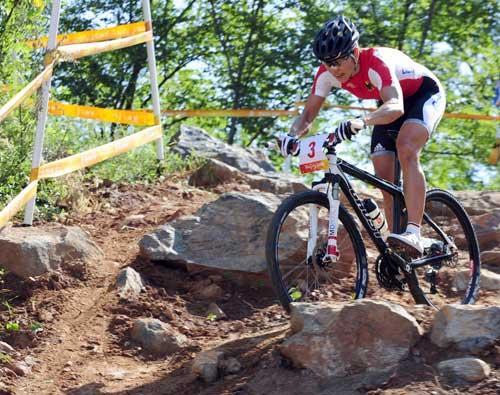 Photo: Spitz claims gold in Women's Mountain Bike Race