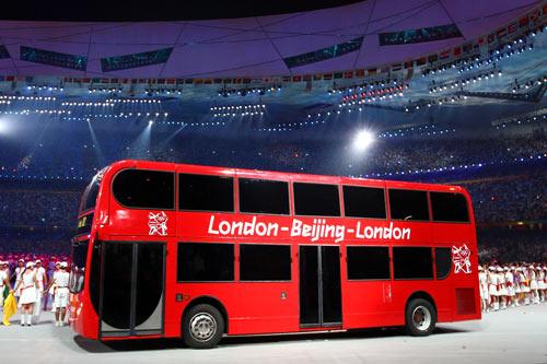 Photo: A London double decker bus