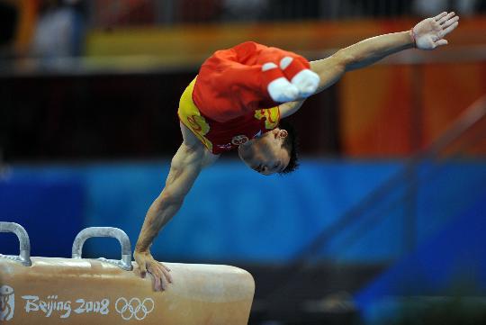 图文-奥运竞技体操项目精彩回顾 鞍马的角度