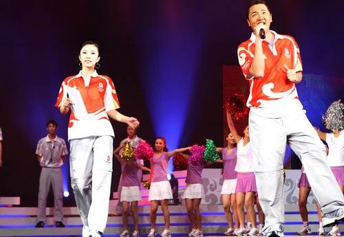 图文-北京奥运会残奥会制服发布 孙楠为奥运献歌