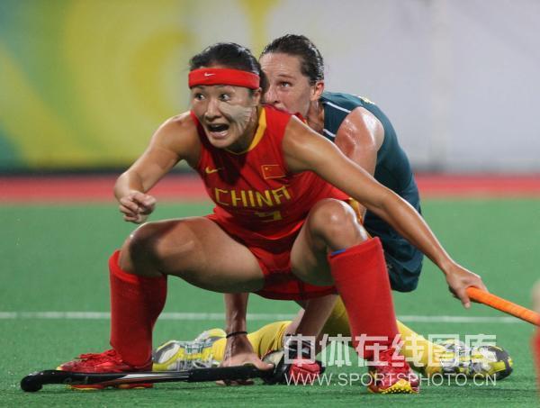 图文-奥运曲棍球精彩瞬间回顾 忘情投入比赛